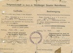 Certification for Submitted Marriage Documentation of Frieda Jacobsohn