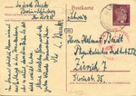 Rabbi Leo Baeck (1873-1956) Postcard from Berlin to Helmut Bradt in Zurich
