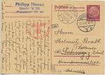 Philipp Manes (1875-1944) Postcard from Berlin to Helmut Bradt in Zurich