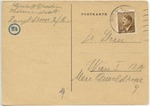 Postcard from Theresienstadt Ghetto Used by Elizabeth Rosa Ornstein