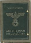 Arbeitsbuch (Employment Record) for Frauz Willert
