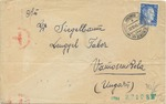Cover from D. Sigelbaum in Dabrowa Ghetto to a Relative in Hungary