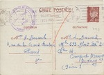 French Internment Camp Drancy Rare Postcard from H. Barouh in Paris to Leon Barouh in Drancy Internment Camp