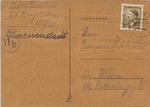 Theresienstadt Package Receipt Acknowledgement Three Days After Swiss Red Cross Visit