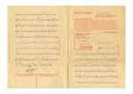Buchenwald Concentration Camp Formular Letter from Prisoner Adolf Sildberger