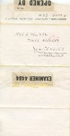 Isle of Man Internment Camp Censored Letter from Adolphe Malinow, House 11, P Camp