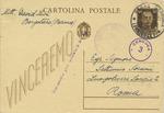 Censored Postcard Sent From Borgo Val Di Taro (Borgotaro) by David Levy to Delasem Leader Septimus Sorani in Rome