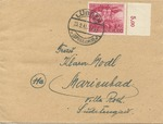Cover from Lubben to Marienbad, with Stamp Commemorating Home Guard (Volkssturm) Mobilization