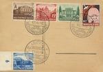 Postcard with Propaganda Stamp of Churchill