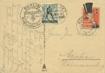 German Propaganda Postcard Depicting Caricature of British Prime Minister Neville Chamberlain with Inscription