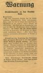 British Propaganda Leaflet Dropped on Germans