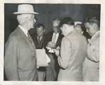 Press Photograph of Cordell Hull Before Senate Foreign Relations Committee