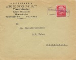 Commemorative Treuhander Cover from German Invasion of Oberschlesien, Again in Polish Hands, with Provisional Liberation Cancel
