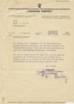 Hermann Goering Reichswerke Letter