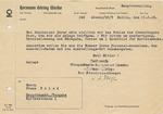 Hermann Goering Reichswerke Form Letter