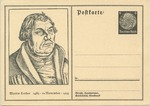 Commemorative Postcard of 450th Anniversary of Birth of Martin Luther