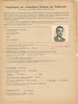 Fragebogen for Jewish Physician Izrael Helman in Warsaw, Poland