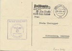Postcard from Gestapo Addressed to Freda Oberegger