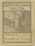 Early Italian Fascist Party Identification Card