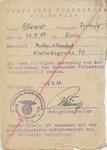 Volkssturm Medical Form for Berthold Allwardt