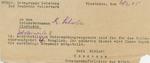 Volkssturm Medical Note for Berthold Allwardt