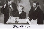 Reproduction Photograph with Original Signature of Benjamin Ferencz