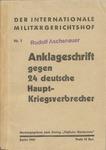 Anklageschrift gegen 24 deutsche Haupt-Kriegsverbrecher: Rudolf Aschenauer Signed and Stamped Copy of Nuremberg Trials Indictments