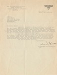 Signed Letter from Muhammed Amin Al-Husseini to Fritz Fuchs