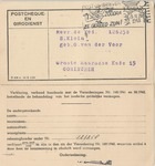 Official Netherlands Postcard with Reply, Referencing Jews Forbidden to have Postal Accounts