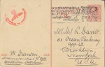 Censored Postcard from M. Brandon During Early German Occupation of Netherlands to New York