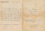 Censored Letter from Prisoner in Hertogenbosch Concentration Camp, Saartje Turksma-Cohen, to Dieren, Netherlands