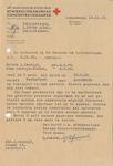 Lettersheet from Netherlands Red Cross Settlement Office of Concentration Camps Concerning Fate of Zendijks
