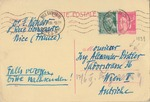 Postcard from Doctor in Nice, France to Alexander Distler, Engineer in Austria