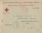 Red Cross Correspondence from Franziska Distler in Nazi-Occupied Vienna to Alexander Distler, Interned in Camp I, Ottawa, Canada