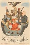 Anti-Nationalist Postcard of Spanish Civil War: Republican Junta de Burgos Ship