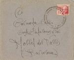 Spanish Civil War Correspondence to Mollet del Valles with Mark <i>BRIGADA MIXTA 146</i>