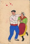 Hand Painted and Colored International Brigades Censored Postcard from Spain to Czechoslovakia