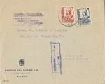 Spanish Civil War Cover to France with Censor and Cachet