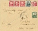 International Bridges Cover Sent by Jewish Brigadist, Adolf Lebovic