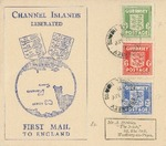 German Occupation Channel Islands Liberation Day Cover with Set Franking and Guernsey Stamps