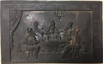 Cast Metal Plaque, Rescued from Berlin's Fasanenstrasse Synagogue During Kristallnacht