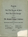Program For the Rescue of Jews from Nazi Occupied Europe, Submitted to The Bermuda Refugee Conference by the Joint Emergency Comittee for European Jewish Affairs