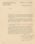 Letter from <i>Joodsche Raad Voor Amsterdam</i>, Amsterdam's Jewish Council or Judenrat