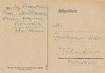 Postcard From Simon Wiesenthal, Austrian Holocaust Survivor and Nazi Hunter