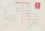 Censored Postcard from French Internment Camp Nexon to St. Gallen