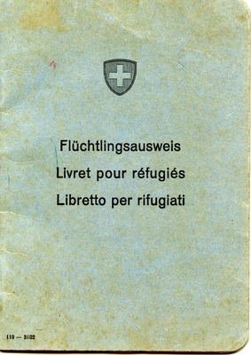 Swiss Refugee Booklet for Attias Rafael of Yugoslavia