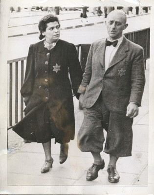 Jewish Couple Wearing Star of David Patches