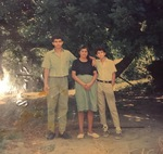 Papa Jose, as a teenager, stands next to Tia Teofila, and a friend of Jose (1989) by Betania Escobar