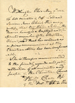 Letter of introduction for Mrs. Chloe Sabin by Philander Chase