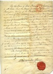 Certificate admitting G. M. West to the Holy Order of Deacons